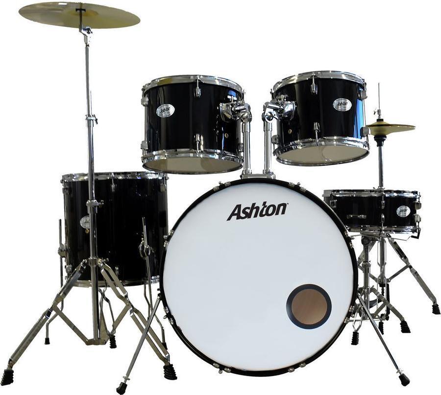 ashton tdb522bk black acoustic drum kit 5 piece with cymbals stool mooloolaba music australia. Black Bedroom Furniture Sets. Home Design Ideas