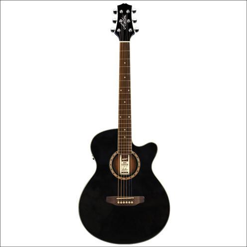 ashton sl29ceqbk 6 string acoustic electric guitar with pickup black finish mooloolaba music austr. Black Bedroom Furniture Sets. Home Design Ideas