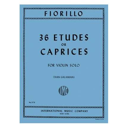Fiorillo - 36 Etudes Or Caprices Violin