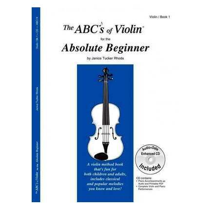 ABCs Of Violin for the Absolute Beginner Book 1 Bk/CD
