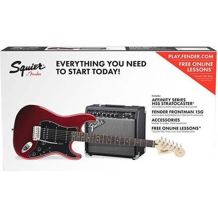 Squier Affinity Strat HSS Electric Guitar in Candy Apple Red