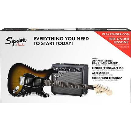 Squier Affinity Strat HSS Electric Guitar in Sunburst