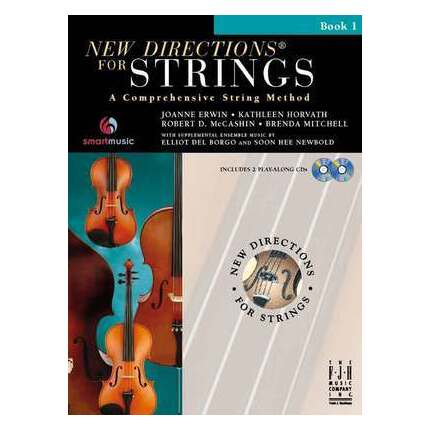 New Directions For Strings Double Bass D Position Book 1 Bk/CD