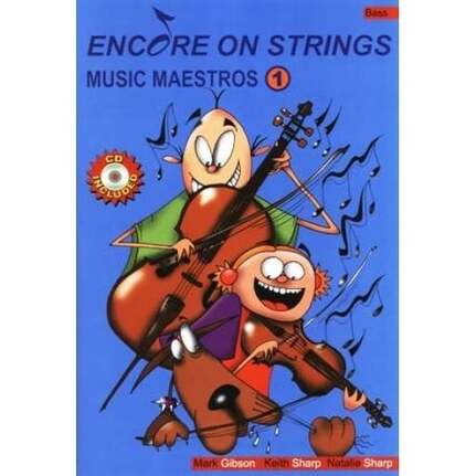 Encore On Strings Book 1 For First Year Double Bass. Book & Cd