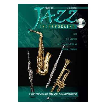 Jazz Incorporated Vol 1 with CD Trombone/Euphonium/Piano