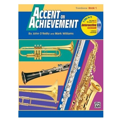 Accent On Achievement Trombone Book 1 Bk/CD