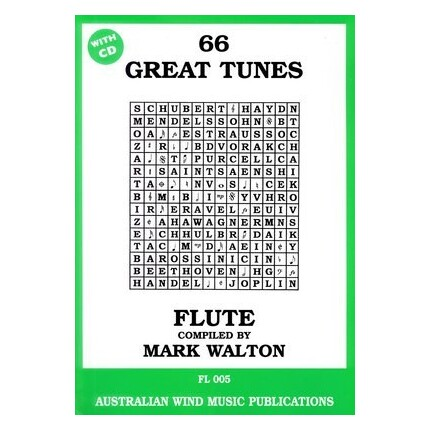 66 Great Tunes Flute Bk/CD