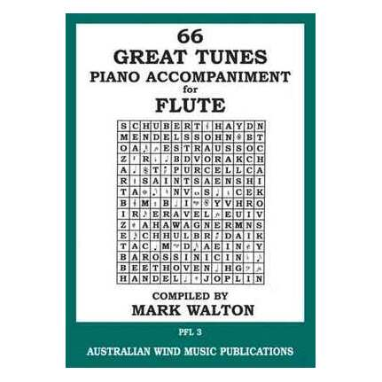 66 Great Tunes Flute Piano Accompaniment