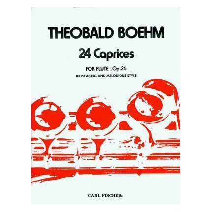 Boehm - 24 Caprices Op 26 For Flute