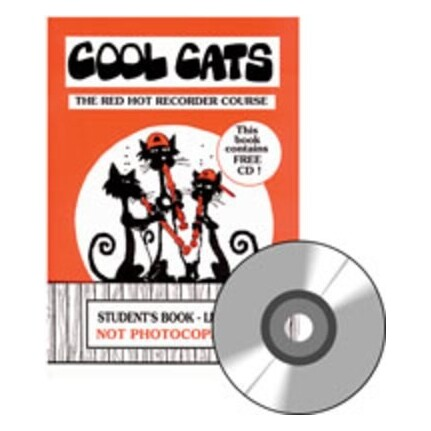 Cool Cats Red Hot Recorder Course Student Bk/CD Level 1