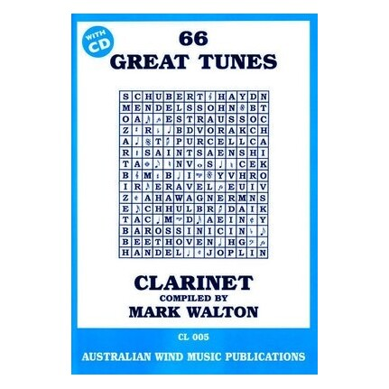 66 Great Tunes Clarinet Bk/CD