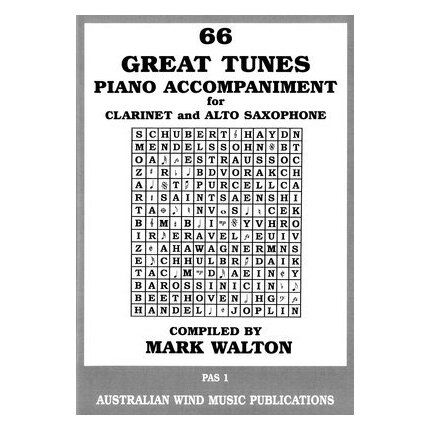 66 Great Tunes Alto Sax/Clarinet Piano Accompaniment
