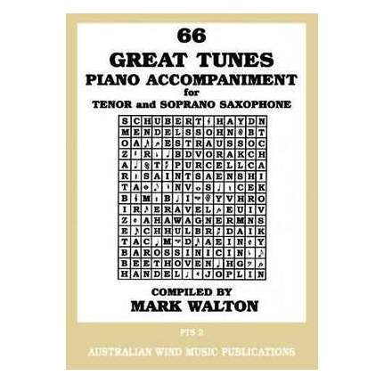 66 Great Tunes Tenor Sax Piano Accompaniment