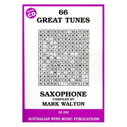 66 Great Tunes Tenor Saxophone Bk/CD