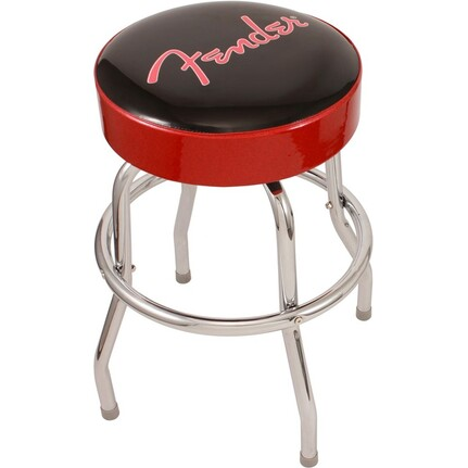 Fender 24 inch Bar Stool Red and Black
