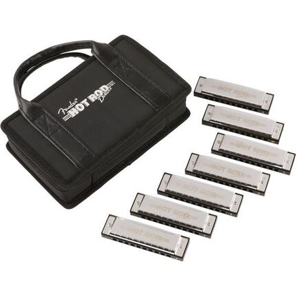 Fender Hot Rod Deluxe™ Harmonica, 7 Pack With Case