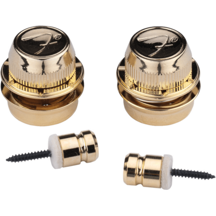 Fender 'F' Guitar Strap Locks Set Gold