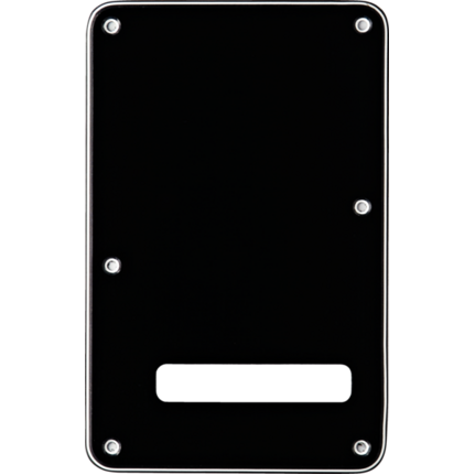 Fender Stratocaster Modern Backplate w/String Slote, 3ply Black