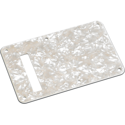 Fender Stratocaster Modern Backplate w/String Slote, Aged White Pearl