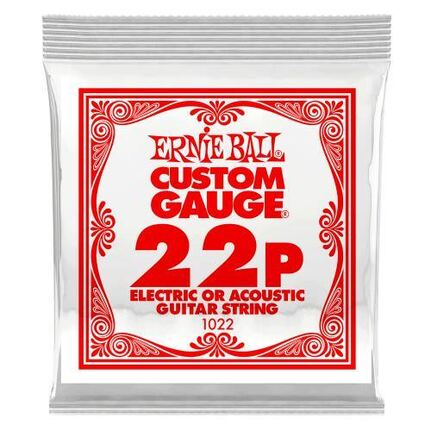 Ernie Ball 1022 .022 Plain Steel Electric or Acoustic Guitar String Single