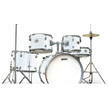 Ashton Joeydrums WH (White) 5-Piece Junior Drum Kit With Stool & Cymbals
