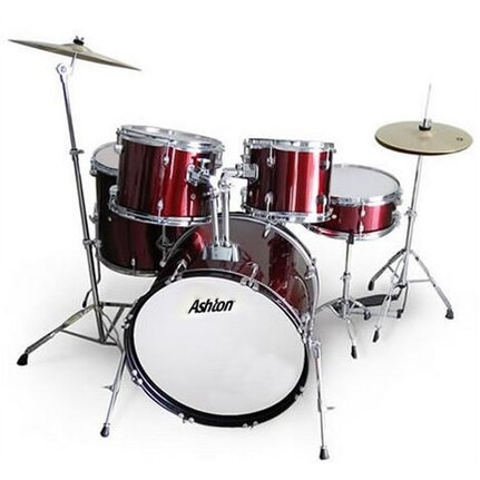 Ashton Joeydrum Swr (Wine Red) 5-Piece Junior Drum Kit With Stool & Cymbals