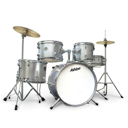 Ashton Joeydrum Ssv (Silver) 5-Piece Junior Drum Kit With Stool & Cymbals