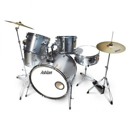 Ashton TDR520SV (Silver) 5-Piece Drum Kit With Cymbals & Stool