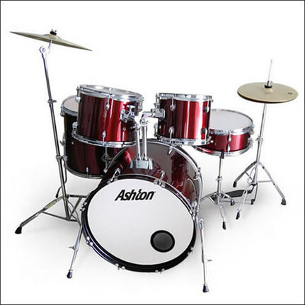 Ashton TDB522WR (Wine Red) Acoustic Drum Kit 5-Piece With Cymbals & Stool