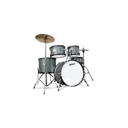 Ashton TDB522SG (Silver Green) Acoustic Drum Kit 5-Piece With Cymbals & Stool