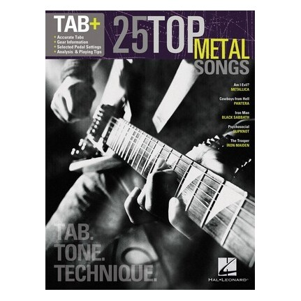 25 Top Metal Songs Guitar Tab Plus