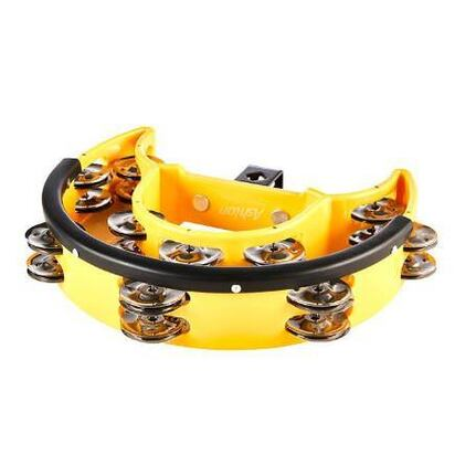 Ashton DRT20DYL Drum Set Tambourine Yellow