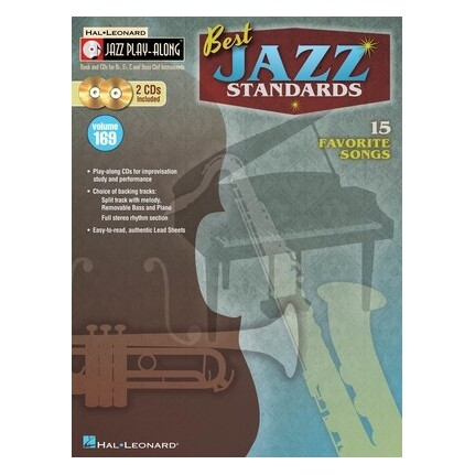 Best Jazz Standards Jazz Play Along Bk/CDs Vol 169