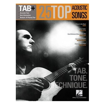 25 Top Acoustic Songs Guitar Tab Plus