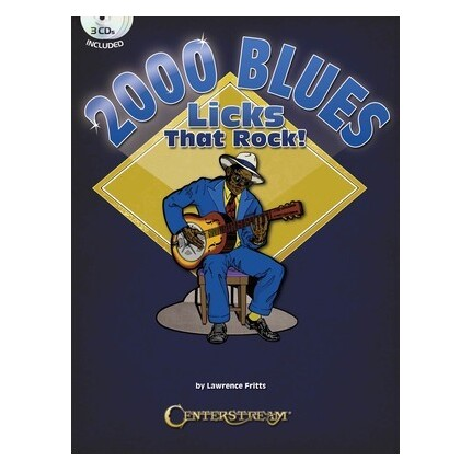 2000 Blues Licks That Rock Bk/3CDs