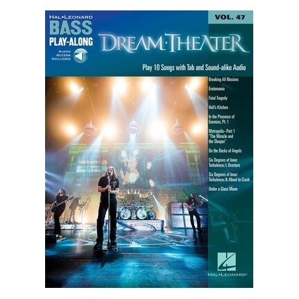 Dream Theater Bass Guitar Play-Along Volume 47 Bk/Online Audio