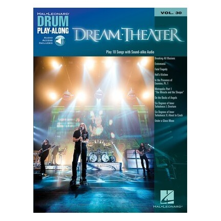 Dream Theater Drum Play-Along Volume 30 Bk/Online Audio