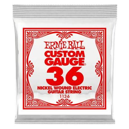 Ernie Ball 1136 .036 Nickel Wound Electric Guitar String Single