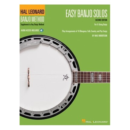 Easy Banjo Solos 2nd Edition Bk/Online Audio