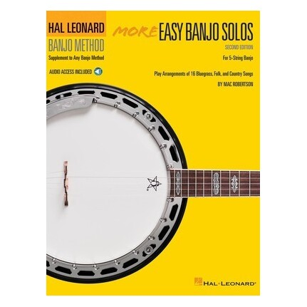 More Easy Banjo Solos 2nd Edition Bk/Online Audio