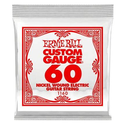 Ernie Ball 1160 .060 Nickel Wound Electric Guitar String Single
