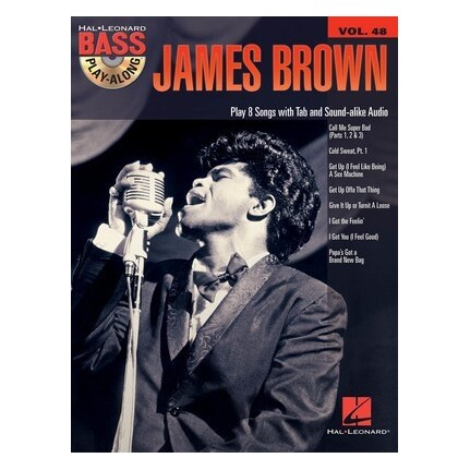 James Brown Bass Play-Along Vol 48 Bk/CD
