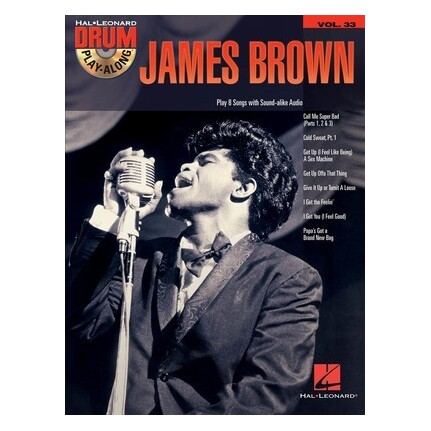 James Brown Drum Play-Along Vol 33 Bk/CD