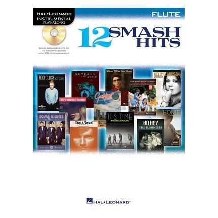 12 Smash Hits Play-Along Flute Bk/CD