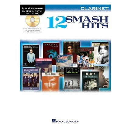 12 Smash Hits Play-Along Clarinet Bk/CD