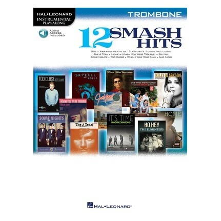 12 Smash Hits Trombone Bk/CD