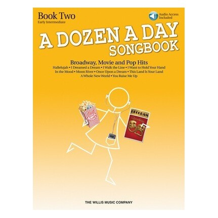 A Dozen A Day Songbook - Book 2 w/Online Audio