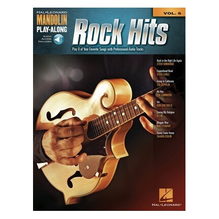 Rock Hits Mandolin Play-Along Vol 6 Bk/Online Audio