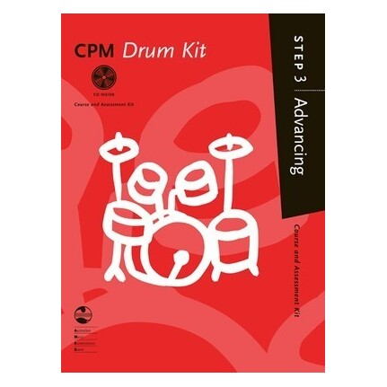 CPM Drum Kit Advancing Step 3 Bk/CD AMEB