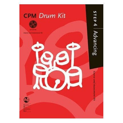 CPM Drum Kit Advancing Step 4 Bk/CD AMEB